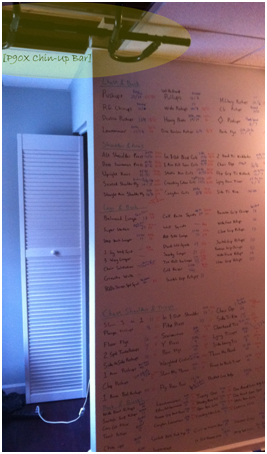 p90x whiteboard wall